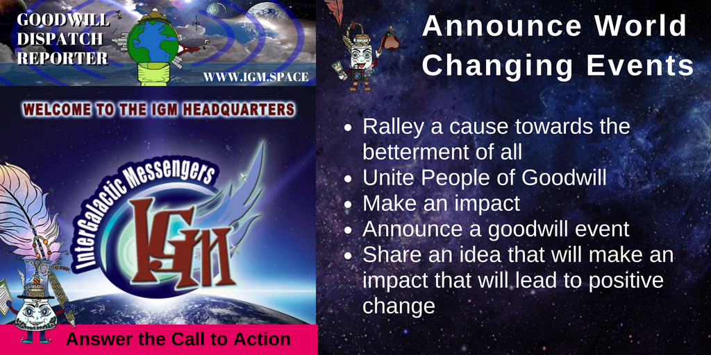 InterGalactic Messengers - World Changing Events