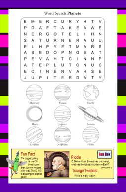 Planetary wordsearch 1 answer key